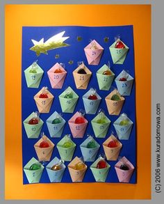 Have a look how to make advent calendar with some sweets :-)
