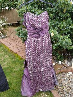 313fa50b8fb 80 s Vintage Gunne Sax by Jessica McCuntock purple plum sequin strapless formal  dress Mermaid