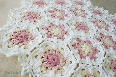 Vintage Fleur Blanket By Susan Carlson - Purchased Crochet Pattern - (ravelry)
