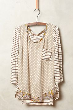 Anthropologie has FREE SHIPPING with a minimum $150 order right now! Love this layered top that comes in 4 color combos!