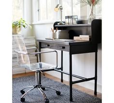Paige Acrylic Desk Chair - Versatile  for any home office