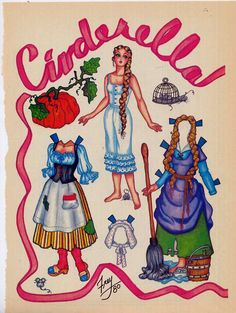 Fairies Paper Dolls | ... Fairy Tale Paper Dolls from National Doll World Pat Frey Vintage Paper