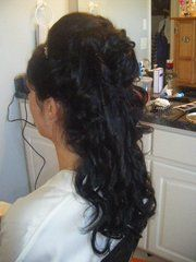 My wedding day hair.