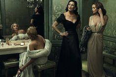 Annie Leibovitz's Stunningly Stylized Hollywood Portraits - Sharon Stone, Anjelica Huston, and Diane Lane