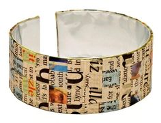 Bracelet made out of recycled materials.
