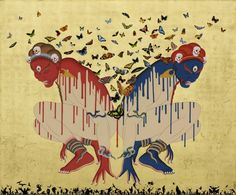 Blind Spirits Tsherin Sherpa   Rossi and Rossi Gallery of Asian Art. Would so love one of his on my wall.