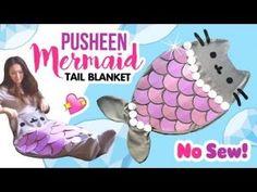 DIY Pusheen Mermaid Tail Blanket!