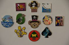 Disney 2014 Cast Lanyard Hidden Mickey Series Completer Pin Set of 11 Pins