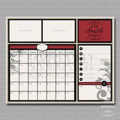 a calendar for the hallway to help us all keep organized