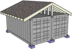 Intermodal Shipping Container Steel Building Home House DIY Plans CD *Original*