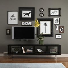 how to decorate around a flat panel TV