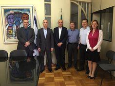 Diretorias da Câmara Brasil-Israel e Minas–Israel reuniram-se em Belo Horizonte.