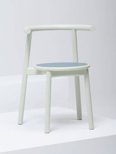 Contemporary chair / stackable / leather / in wood SOLO by Studio Nitzan Cohen Mattiazzi