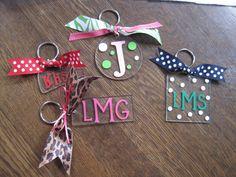 Personalized Initial Monogram Acrylic Keychains!