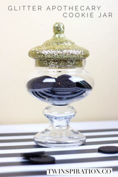 Glitter Apothecary Cookie Jar by Twinspiration: http://twinspiration.co/glitter-apothecary-cookie-jar/