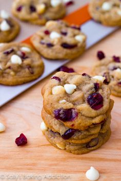 Soft-Baked White Chocolate Chip Cranberry Cookies by Sallys Baking Addiction #cookies