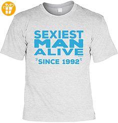 T-Shirt zum 25. Geburtstag Shirt Sexiest Man Alive Since 1992 Geschenk zum 25 Geburtstag 25 Jahre Geburtstagsgeschenk 25-jähriger (*Partner-Link)