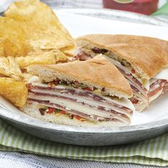 These Muffuletta Po' boys are the perfect parade route sandwich.