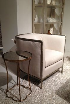 Leather and bamboo chair by Bernhardt