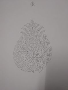 Handmade Embroidery Designs, Border Embroidery Designs, Embroidery Motifs, Machine Embroidery Designs, Textile Patterns, Textile Design, Modern Henna, Computerized Embroidery Machine, Pencil Design