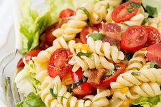 Try this delicious Dreamfields recipe. http://dreamfieldsfoods.com/healthy-pasta-recipes/recipe/blt-pasta-salad