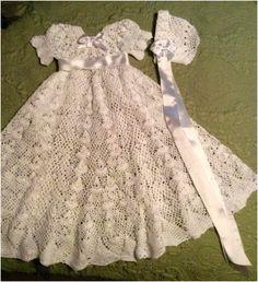 HeirloomVintage Christening Gown pattern by Halina Matson