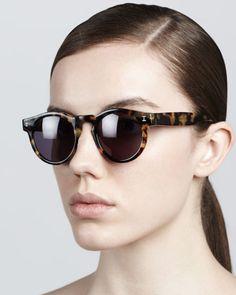 Leonard Round Sunglasses, Tortoise by Illesteva at Neiman Marcus.
