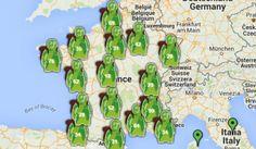 Carte des destinations de tourisme responsable (Voyageons Autrement)