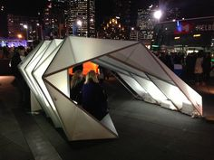 A team of 4 at Woods Bagot designed an Emergency Shelter as part of the Emergency Shelter Exhibitions
