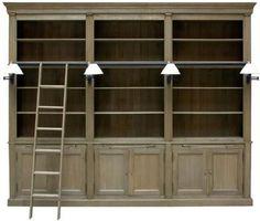 Flamant Library Balmore 3-Sect. Milano Oak Weather BeatenFlamant Library Balmore 3-Section in weathered oak