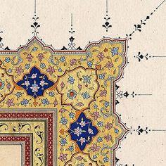 Islamic Art Pattern, Arabic Pattern, Pattern Art, Pattern Design, Arabesque, Chinese Patterns, Islamic Paintings, Turkish Art, Arabic Art