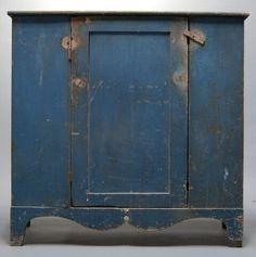 blue painted cupboard