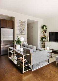 Living Pequeños, Cozy Living Rooms, Living Room Interior, Home Living Room, Small Room Interior, Studio Apartment Living, Studio Apartment Decorating, Apartment Ideas, Small Studio Apartments