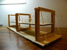 Picture of Simple Suspension Bridge Model Beam Bridge, Bridge Model, Elmer's Glue, Suspension Bridge, Building A House, Simple, Bridges, Home Decor, Theme Ideas