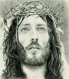 Want to discover art related to jesus? Check out inspiring examples of jesus artwork on DeviantArt, and get inspired by our community of talented artists. Jesus Face, God Jesus, Religious Tattoos, Religious Art, Christus Tattoo, Jesus Drawings, Jesus Christ Drawing, Image Jesus, Bibel Journal