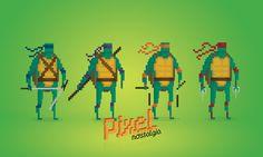 Pixel Nostalgia by Boo! Studio , via Behance