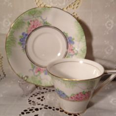 Royal Standard  Bone China Tea Cup and Saucer by ViolasValuables