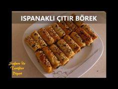 Ispanaklı Çıtır Börek Yapımı - Kat Kat ve Çıtır Çıtır Ispanaklı Börek - YouTube Hot Dog Buns, Hot Dogs, Sausage, Bread, Food, Youtube, Sausages, Brot, Essen