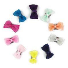 eb5faadb6514 10 Mini Latch Wisp Clip Fancy Tuxedo Bows Gift Set. Baby Hair ...