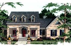 European Style House Plan - 3 Beds 2.5 Baths 2082 Sq/Ft Plan #406-240 Exterior - Front Elevation - Houseplans.com