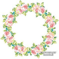 орнамент угловой цветы - Поиск в Google