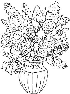 A bouquet of flowers - Coloring Pages for Kids
