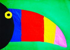 Easy stained glass effect jungle Toucan Craft                                                                                                                                                                                 More