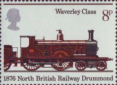 150th Anniversary of Public Railways 8p Stamp (1975) Abbotsford, 1876
