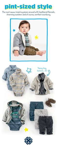 Fall styles for baby boys start with little layers! More from the Baby B'gosh Collection in store & online.