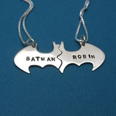 Batman and Robin friendship necklace! Except I don't really have one single best friend. Maybe we should get a Justice League set. :P