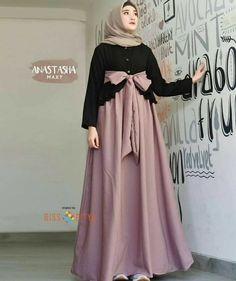 Rp 90 000 all size fit to L Anastasha maxi Mocca bahan balotely Admin. Hijab Prom Dress, Hijab Style Dress, Muslim Dress, Abaya Fashion, Fashion Dresses, Hijabi Gowns, Moslem Fashion, Muslim Women Fashion, Abaya Designs