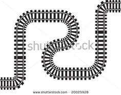 railway vector illustration - stock vector