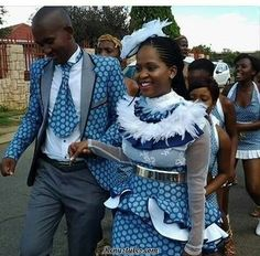 The shweshwe fashion the latest trends from south Africa - Reny styles Sesotho Traditional Dresses, South African Traditional Dresses, Traditional Fashion, African Fashion Designers, African Print Fashion, African Fashion Dresses, African Attire, African Wear, African Dress