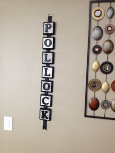Last Name Wall Decor diy home wall decorations photo wall made into a heart | diy